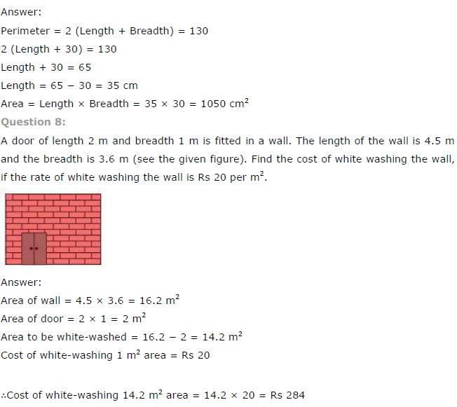 NCERT Solutions for Class 7 Maths Chapter 11 Perimeter and Area Exercise 11.1