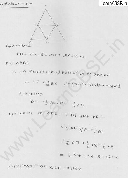 RD Sharma Class 9 Solutions Chapter 14 Quadrilaterals Ex 14.4 1