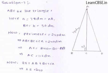 RD-Sharma-class 9-maths-Solutions-chapter 12 - Herons Formulae -Exercise 12.1 -Question-7
