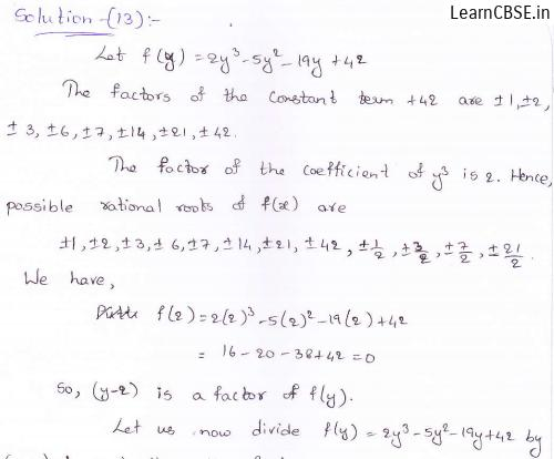 RD-Sharma-class 9-maths-Solutions-chapter 6-Factorization of Polynomials -Exercise 6.5-Question-13