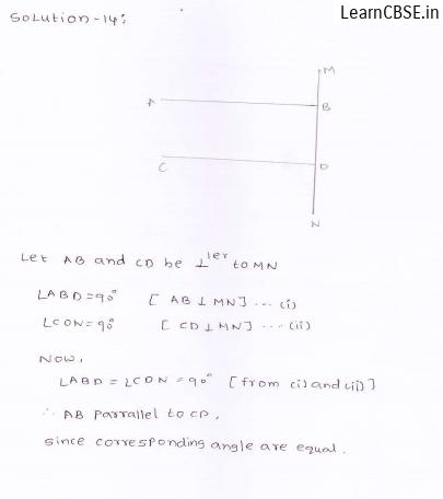 RD-Sharma-class 9-maths-Solutions-chapter 8 - Lines and Angles -Exercise 8.4 -Question-14