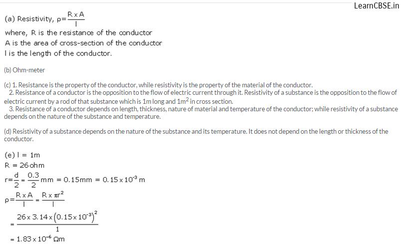 lakhmir singh physics class 10 answers Chapter 1 Electricity Q24 Page 27